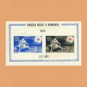 Rumanía BF10. Hoja Cruz Roja Rumanía. (*)1943