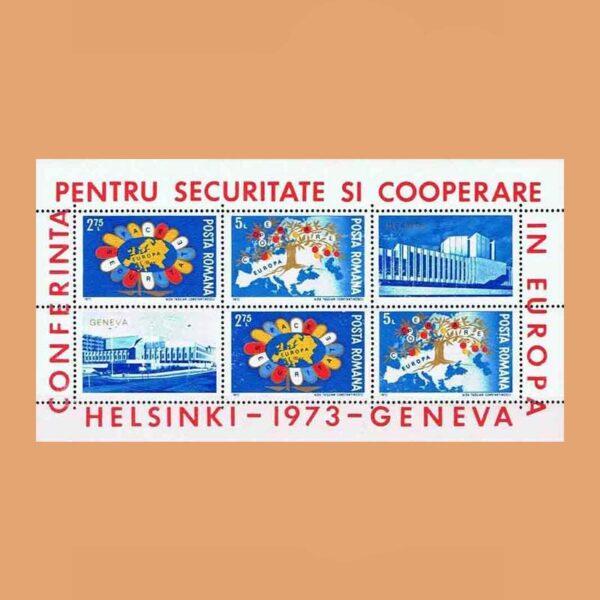 Rumanía BF109. Hoja Conferencia Seguridad y Cooperación en Europa. Helsinki **1973