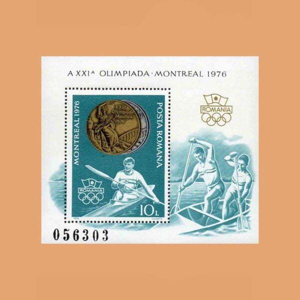 127 Rumanía BF127. Hoja XXI JJ.OO. Montreal **1976