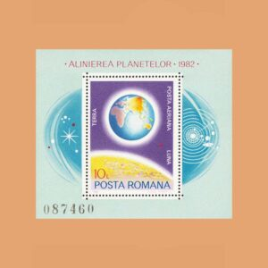 Rumanía BF151. Hoja Alineamiento de los Planetas **1981