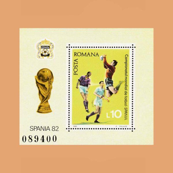 Rumanía BF152. Hoja Campeonato de Futbol. España **1981