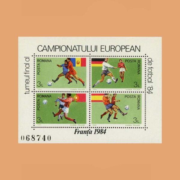 Rumanía BF168. Hoja Campeonato de Europa de Futbol **1984