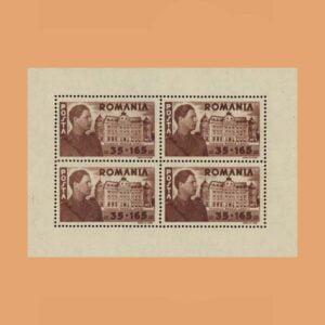 Rumanía BF19. Hoja Fundación Carol I. (*)1945
