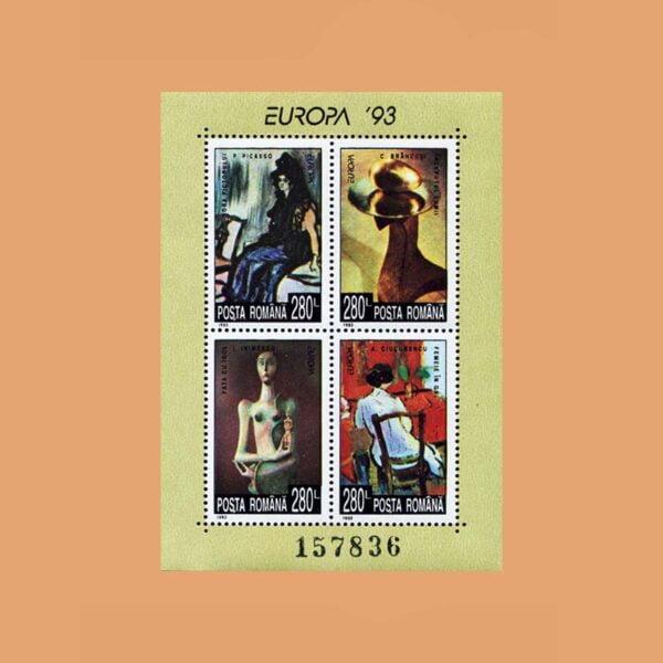 Rumanía BF228. Hoja Centenario del Arte Europeo **1993