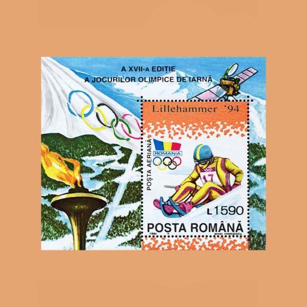 Rumanía BF234. Hoja JJ.OO. Invierno Lillehammer **1994