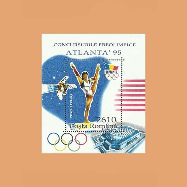Rumanía BF240A. Hoja Pre Olímpico de Atlanta **1995