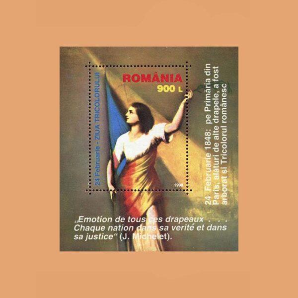 Rumanía BF248. Hoja Día Tricolor **1998