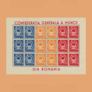 Rumanía BF36B. Hoja Confederación General del Trabajo **1947
