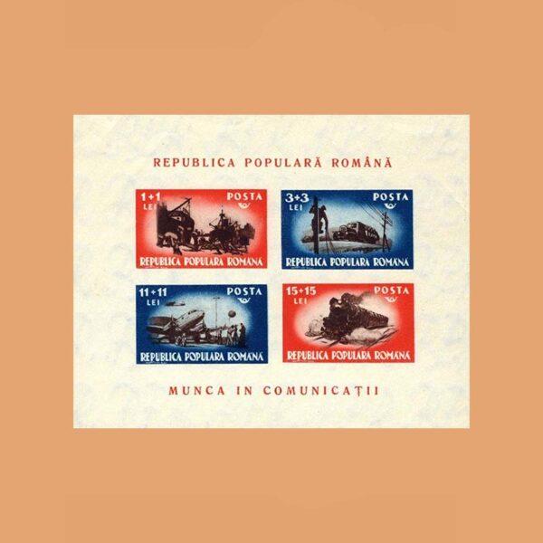 038 Rumanía BF38. Hoja Auxiliares del Transporte **1948