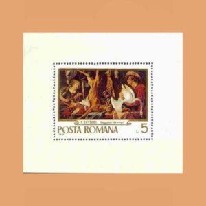 Rumanía BF79. Hoja Frans Snyders **1970