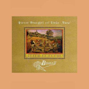 Rumanía BF96. Hoja Pieter Brueghel el Joven. Bélgica **1972