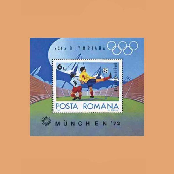Rumanía BF98. Hoja JJ.OO. Múnich **1972