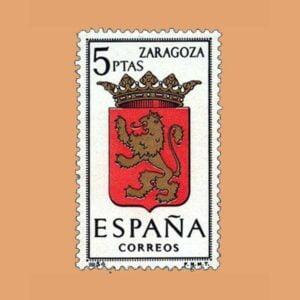 Edifil 1701. Escudos de Capitales de Provincia. Zaragoza. **1966