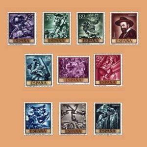 Edifil 1710/9. Serie José Mª Sert. **1966