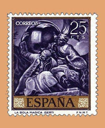 Edifil 1710. José María Sert. Sello 25 cts. **1966