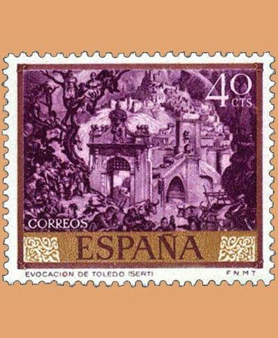 Edifil 1711. José María Sert. Sello 40 cts. **1966