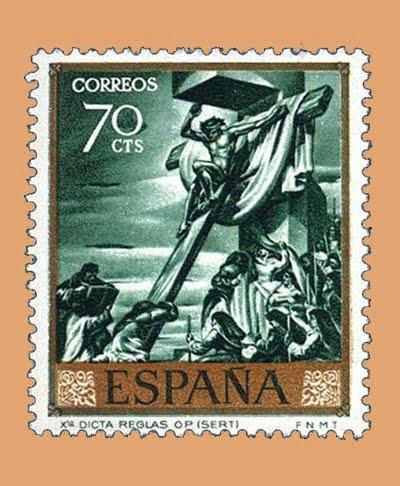 Edifil 1712. José María Sert. Sello 70 cts. **1966