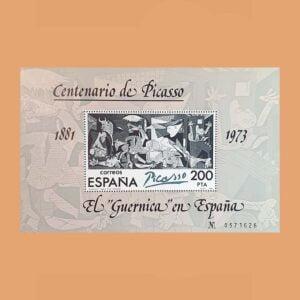 Edifil 2631. Hoja El Guernica en España. **1981
