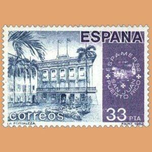 Edifil 2673. América-España. Sello 33 pts. **1982