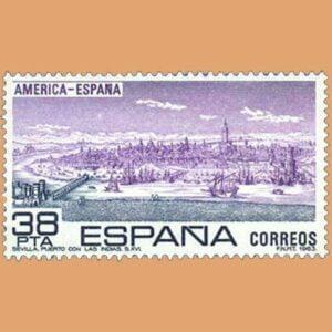 Edifil 2720. América-España. Sello 38 pts. **1983