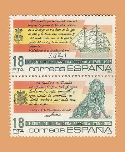 Edifil 2791/2. Serie II Centenario de la Bandera Española. **1985