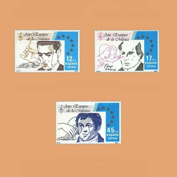 Edifil 2803/5. Serie Año Europeo de la Música. **1985