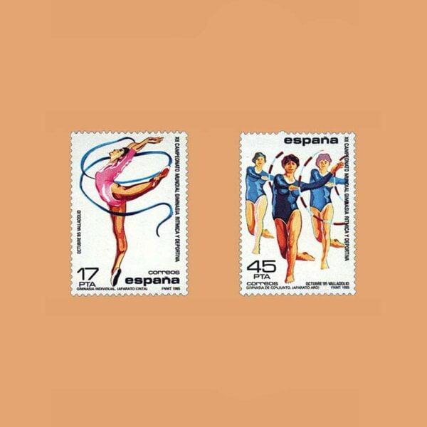Edifil 2811/2. XII Campeonato Mundial de Gimnasia Rítmica. **1985