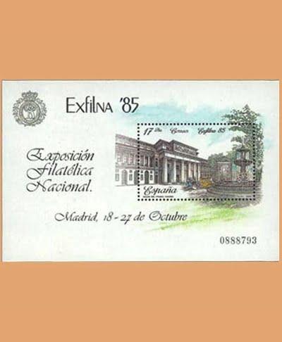 Edifil 2814. Hoja Exposición Filatélica Nacional EXFILNA. **1985