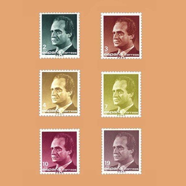 Edifil 2829/34. Serie Juan Carlos I. **1986