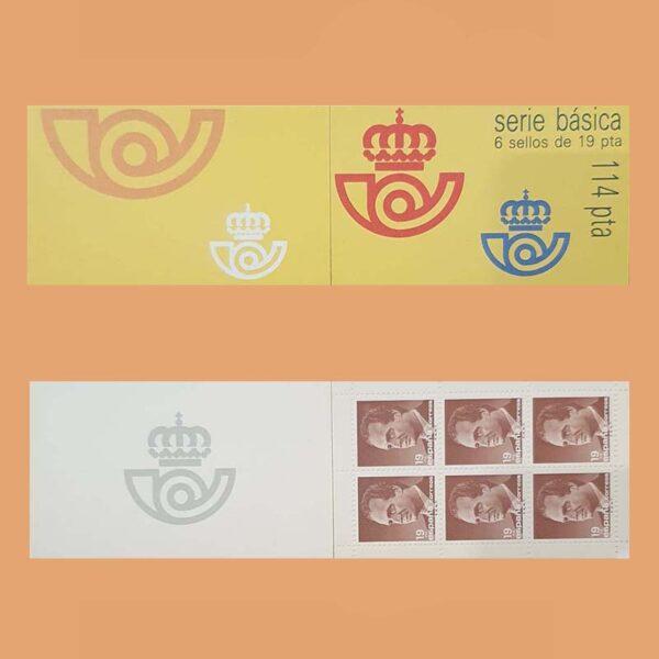 Edifil 2834C-1. Carné Juan Carlos I. **1986