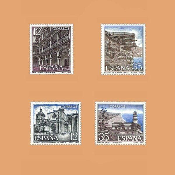 Edifil 2835/8. Serie Paisajes y Monumentos. **1986