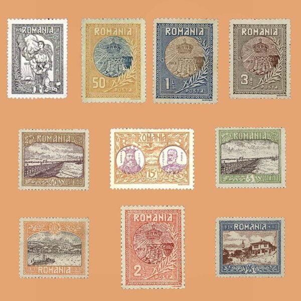 RO 222/31. Serie Reanexión de Silistra Dobrudja. *1913