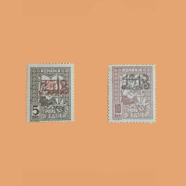 RO 262/3. Serie En beneficio de las familias. Sobrecargado *1919