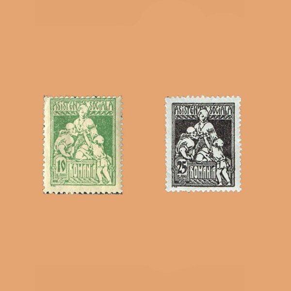 RO 301/A. Serie Asistencia Social. 2 valores *1921