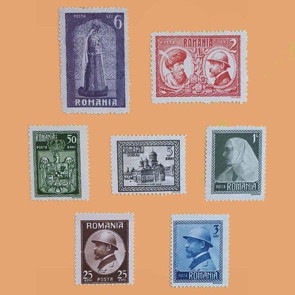 RO 302/8. Serie Coronación Rey Ferdinand. 7 valores *1922