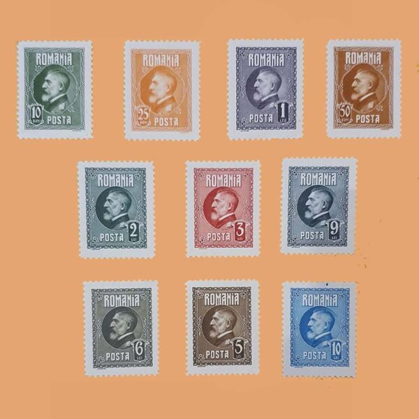 RO 309/18. Serie Aniversario Rey Ferdinand. 10 valores **1926