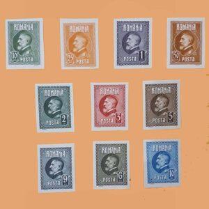 RO 309/18-SD. Serie Aniversario Rey Ferdinand. 10 valores sin dentar *1926