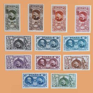 RO 324/35. Serie Aniversario de la Independencia. 12 valores *1927