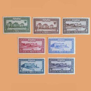 RO 344/50. Serie Anexión de Basarabia. 7 valores *1928