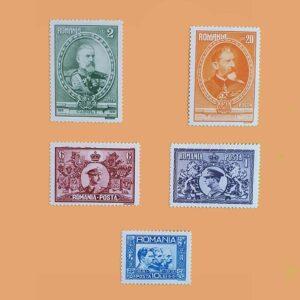 RO 406/10. Serie 50 Aniversario del Reino. 5 valores *1931
