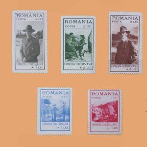RO 422/6. Serie Exposición de Scouts. 5 valores **1931