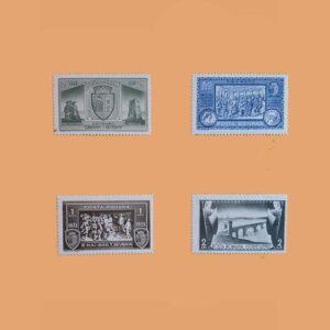 RO 461/4. Serie Centenario de Turbu Severin. 4 valores **1933