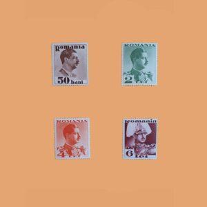 RO 471/4. Serie Carol II. 3 valores *1934
