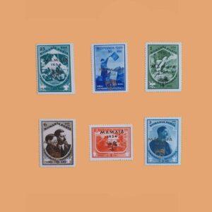 RO 476A/F. Serie 3ª Feria de Mamaia. 6 valores **1934