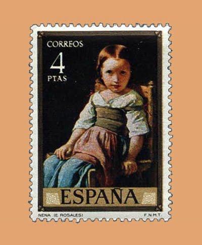 Edifil 2206. 'Nena' por Eduardo Rosales. Sello 4 pts. **1974