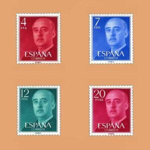 Edifil 2225/8. Serie General Franco. **1974