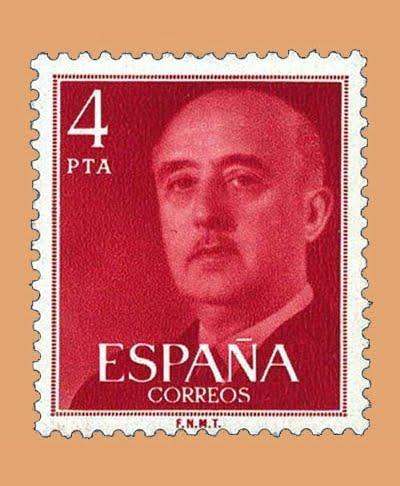 Edifil 2225. General Franco. Sello 4 pts. **1975