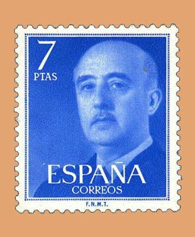 Edifil 2226. General Franco. Sello 7 pts. **1974