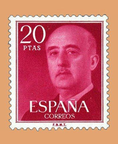 Edifil 2228. General Franco. Sello 20 pts. **1974