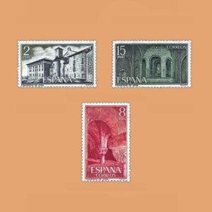 Edifil 2229/31. Serie Monasterio de Leyre. **1974
